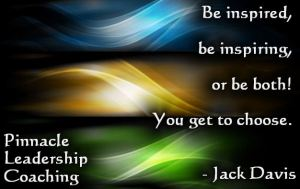 Be inspiring - quote