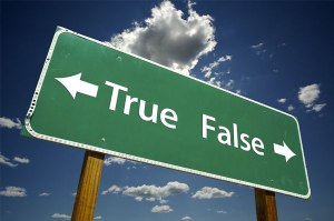 true - false myth