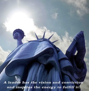 leader - vision conviction inspriation