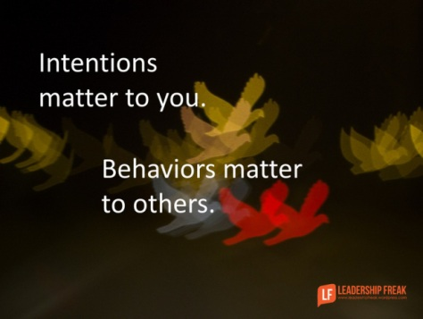 Intentions - Behaviors