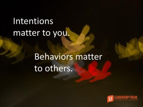Intentions - Behaviors